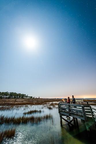 sky moon water night virginia pier dock unitedstates photographers chesapeake