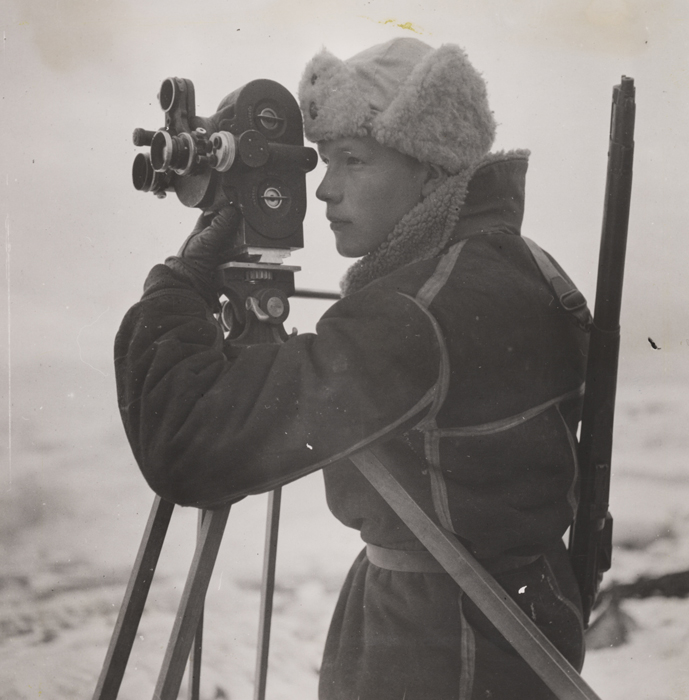 Photographer Mattis Mathiesen at work on Jan Mayen