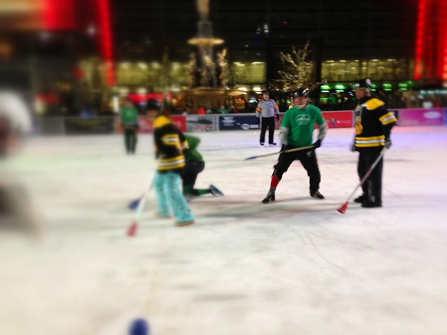 Foutain Square Broomball