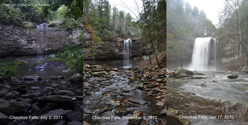 Cherokee Falls Water Levels by USWildflowers, on Flickr
