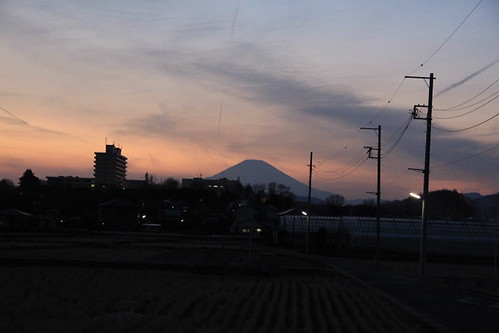 Evening glow Mt. Fuji