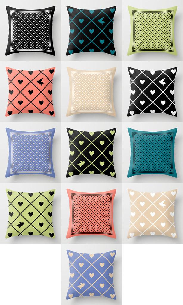 Mix/Match Valentine's Cushions