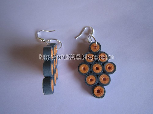 Handmade Jewelry - Paper Quilling Diamond Earrings (3) by fah2305