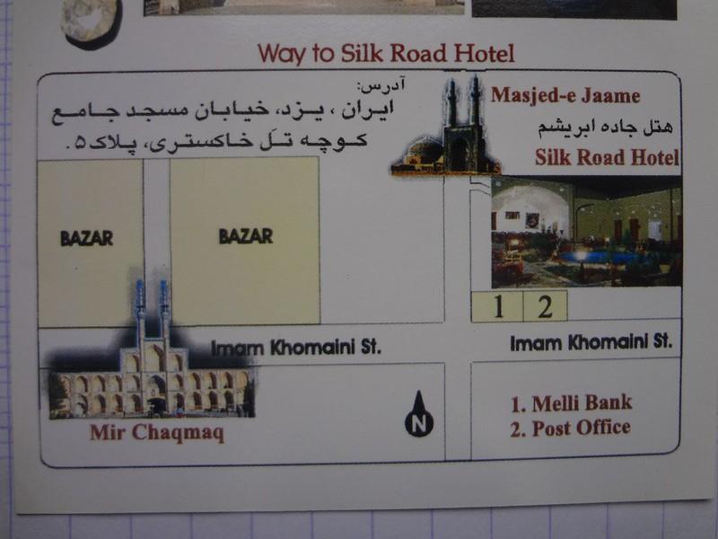 Mapa do Silk Road Hotel em Yazd