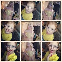 #sawyergrace #4mustbeawesome #ilivewithkesha #fakeglasses @jessicadrobbins - like the hair?? ;)
