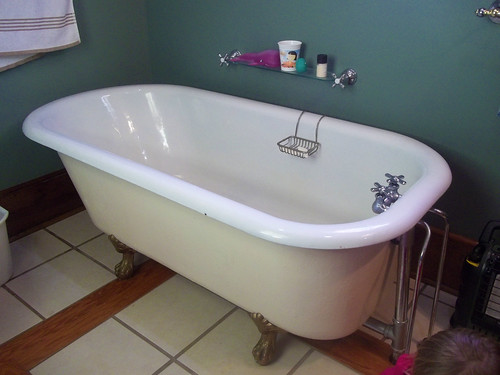 Our downstairs bath tub