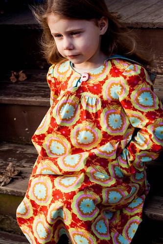 her winter dress