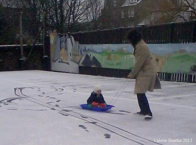 scotland snow sledging