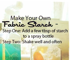 Make your own spray starch waterpenny quilts for Create your own penny