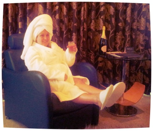 Spa white robe slippers St David's Hotel and Spa