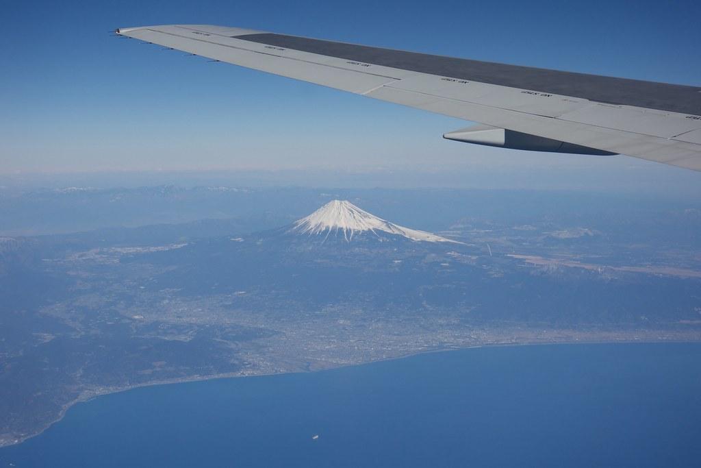 Mt.Fuji and Shizuoka City from airplane