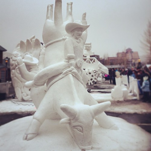 This was Team Breckenridge's Snow Sculpture for the 2013 International Snow Sculpture Championships