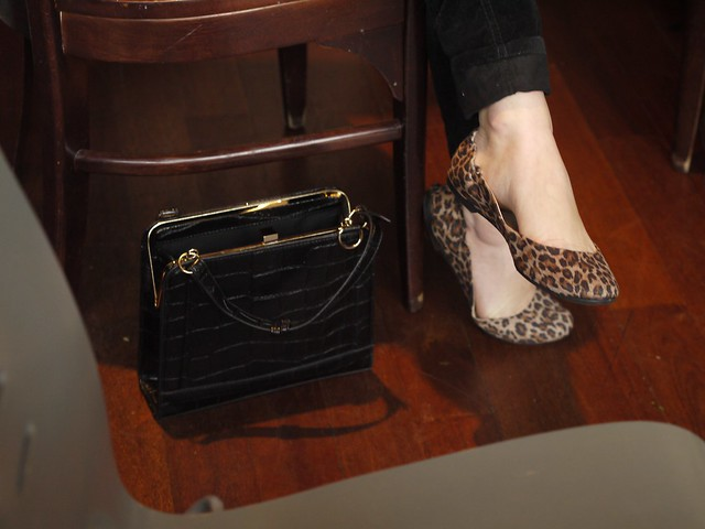 A killer Handbag and Flats Combo