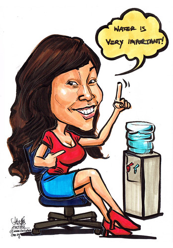 "caricature theme - ""Water is very important!"""