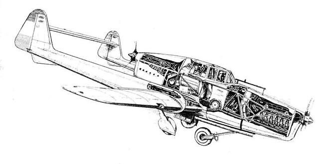 Fokker D.23 cutaway