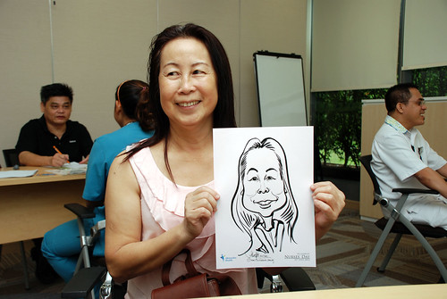 caricature live sketching for Khoo Teck Puat Hospital, Nurses' Day - 4