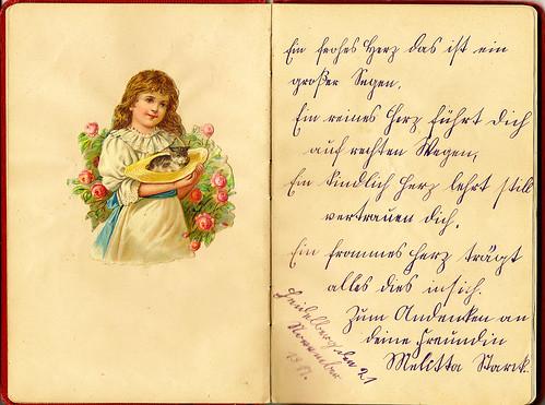 Klaras Poesiealbum 1917 Sütterlin Sütterlinschrift