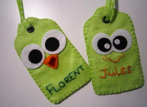 ♥♥♥ E estes sao dois dos presentes que costumo enviar com as encomendinhas... by sweetfelt \ ideias em feltro
