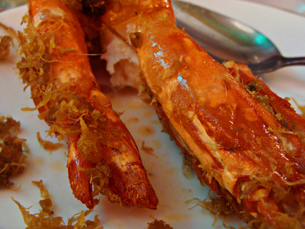 Baked Prawn With Cheese From Golden Bay Restaurant