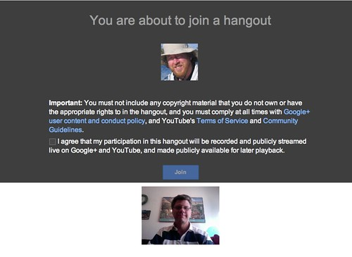 Setting up the Google Hangout