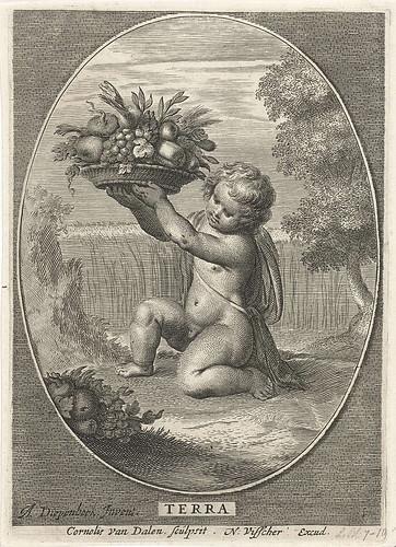010-Elemento Tierra, Cornelis van Dalen (II), 1648-Rijksmuseum API Collectie
