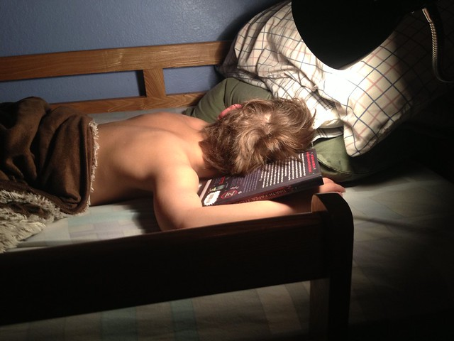 Chase fell to sleep reading