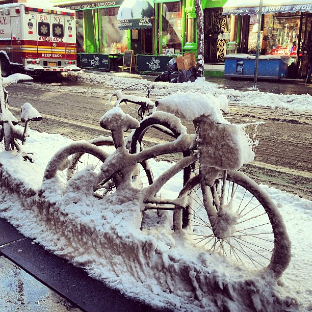A bad day for bikes! Nemo blizzard in NYC