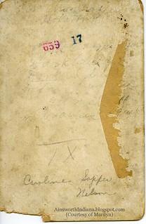 verso C Sapper ca 1900