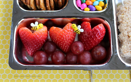 honeybee bee bento picks for Valentines Day
