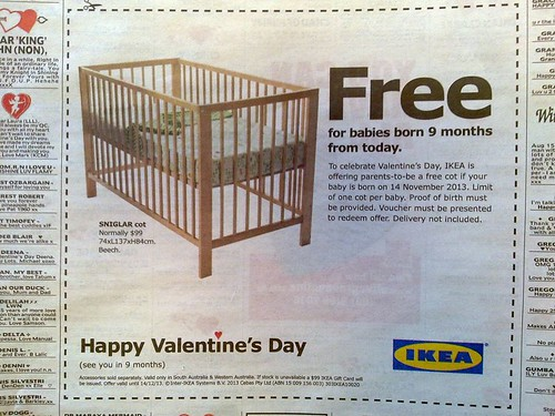 ikea happy valentines day