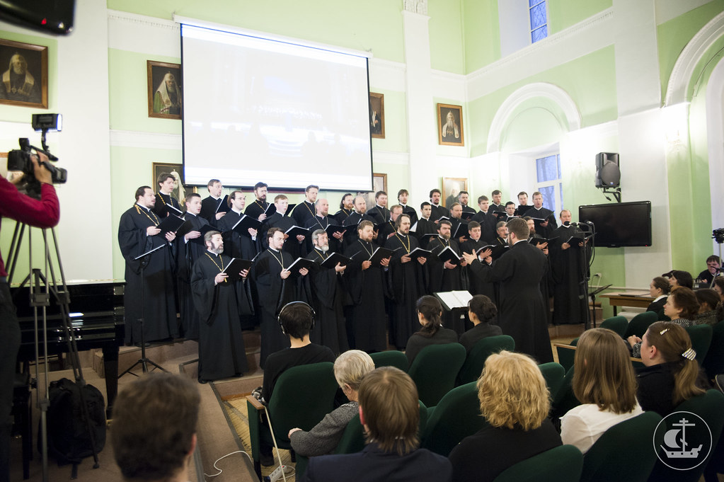 15 февраля 2013, Выступление хора Санкт-Петербургской митрополии в актовом зале СПбПДА