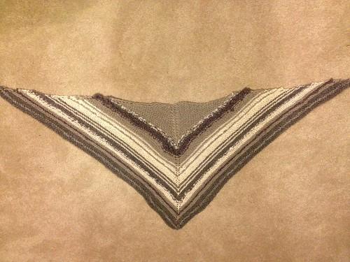 Part homespun shawlette complete