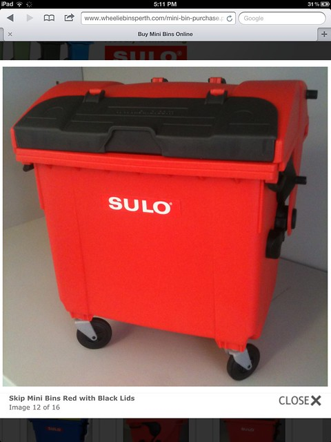 sulo 1100 litre mini skip bin flickr photo sharing. Black Bedroom Furniture Sets. Home Design Ideas