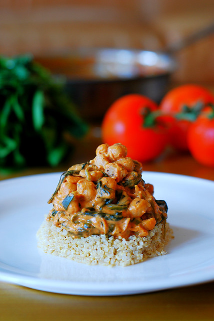 yummy chickpea and vegetable curry with quinoa