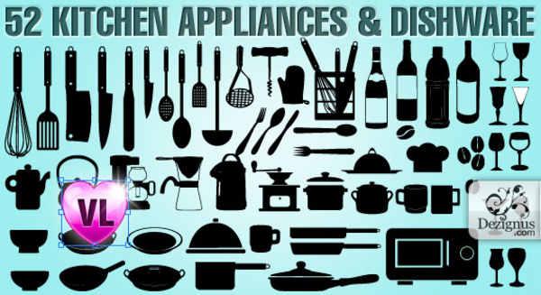 instrumentos de cocina en vectores
