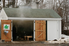 Sat 02.23.2013  2:48 pm - The brand new maple sugaring operation is in full swing inside the Sugar Shack at Appleton Farms in Ipswich Massachusetts!