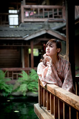 [フリー画像素材] 人物, 女性 - アジア, 和服・着物:浴衣, 台湾人 ID:201303170800