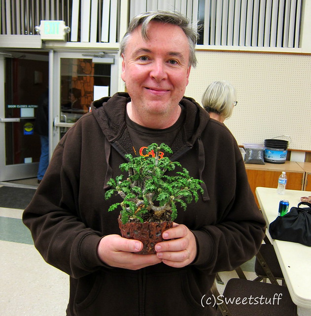 Gerhard and his Euphorbia decaryi var. spirosticha