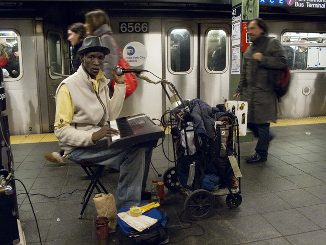 Busker, nyc