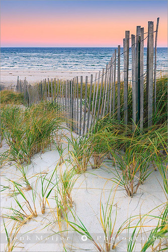 ocean sea usa sunlight color colour water colors grass sunrise canon fence landscape morninglight sand colorful colours view unitedstates capecod massachusetts dunes sandy dune newengland fences structure atlantic colourful meijer henk skyonfire floydian proframe proframephotography canoneos1dsmarkiii henkmeijer