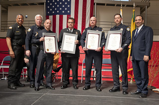 Honorees of the 2013 PAD Program Award Ceremony, Hosted by LAFD