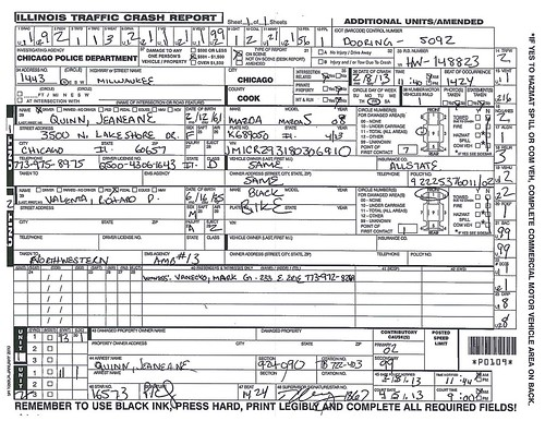 Chicago Police Car Accident Reports