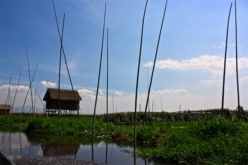 venturing out on to the canals to Inle Lake