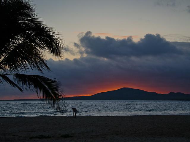 Galapagos: Sunset, Beach at Puerto Villamil, Isla Isabela