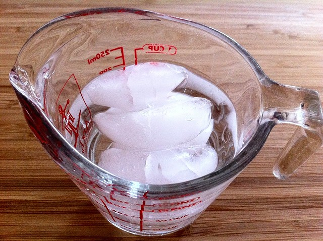 Ice Cubes in Ice Water