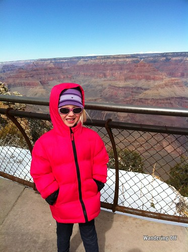 Grand Canyon, south rim on a chilly day