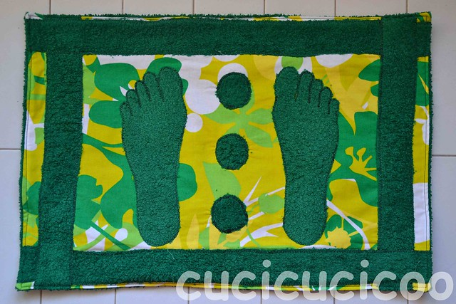 finished adult size changing room foot mat