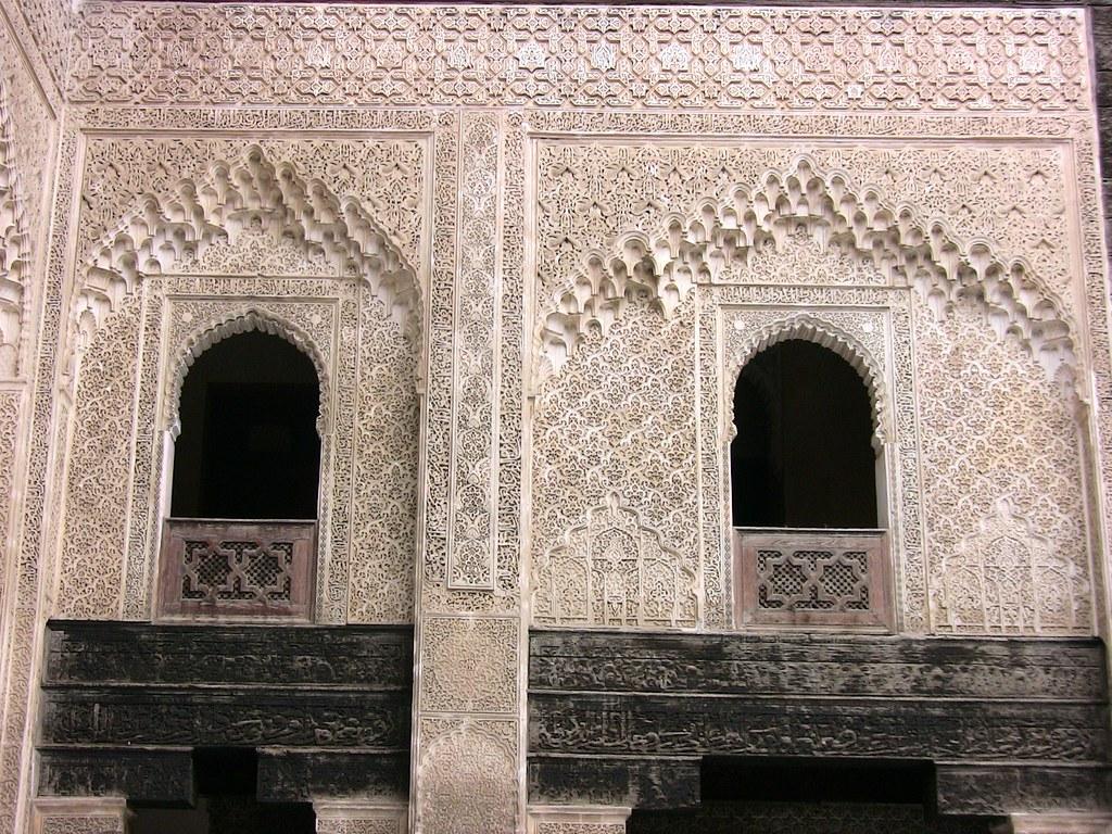 Marokko - Fes, Medersa Bou Inania  , maurische Ornamentik , 6-31/1991