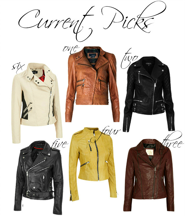 Current Picks Leather Jackets Edit