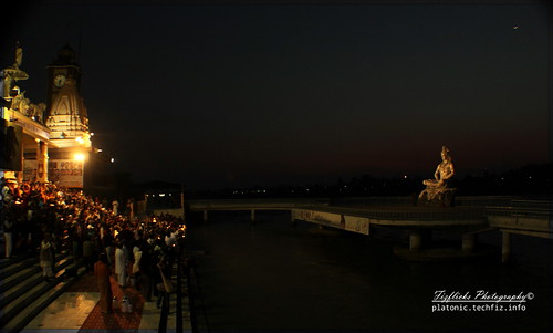 Worshiping Shiva on the Banks of Ganga @ Paramarth, Rishikesh by omshivaprakash